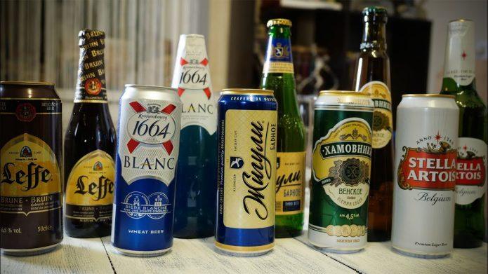 Разновидности дешёвого и дорого пива