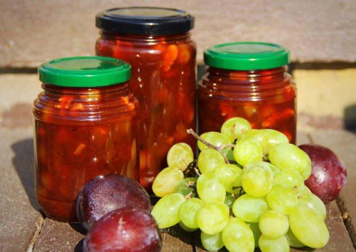 Варенье из винограда и слив