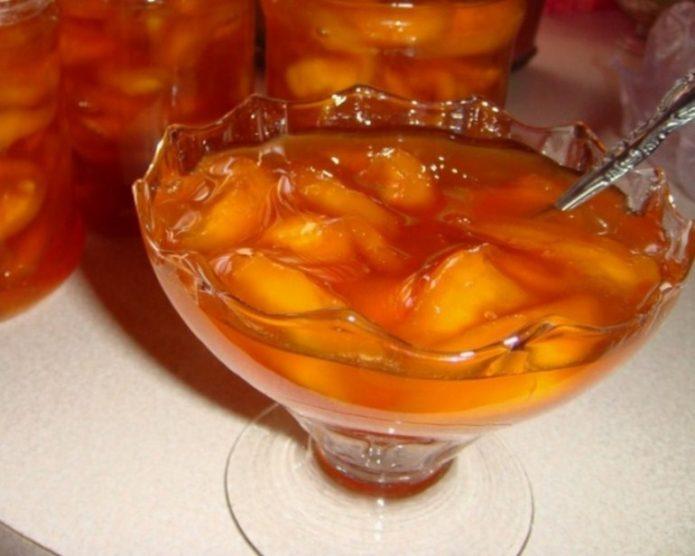 Варенье из персиков и винограда
