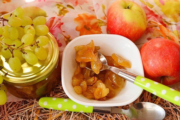 Варенье из винограда и яблок