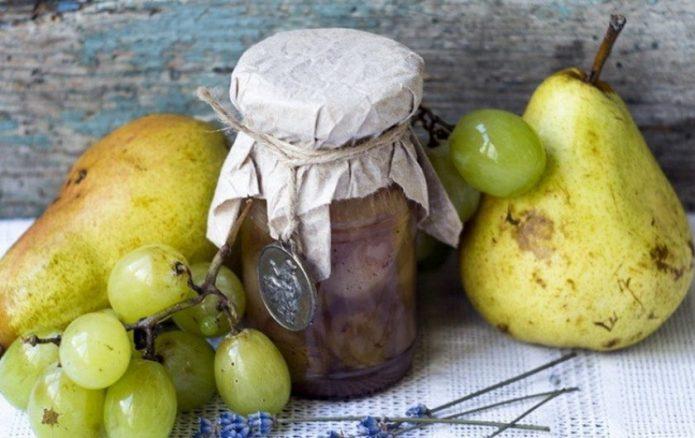 Варенье из винограда и груш