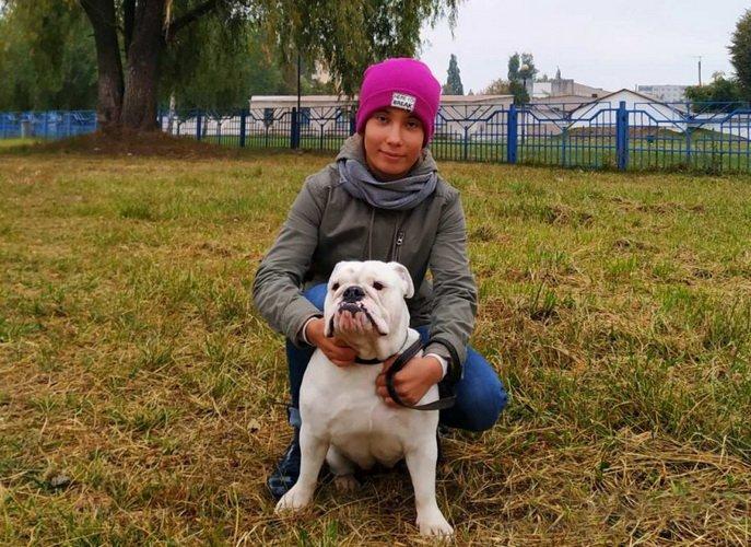 Дарья и её собака