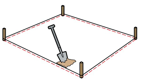 Роем яму под песочни…