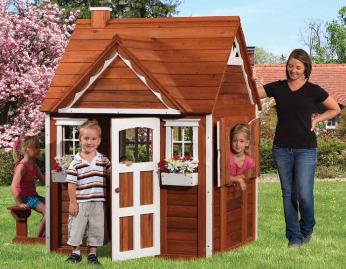 Детский дом из досок или брёвнышек
