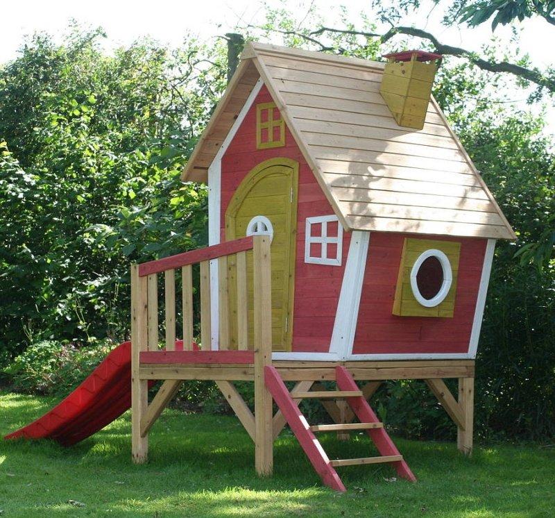 Деревянный игровой домик для детей своими руками