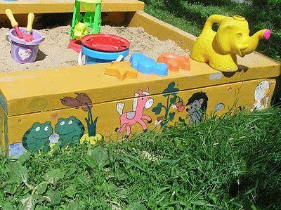 Как красиво разукрасить песочницу