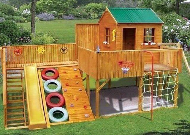 Идеи для дачи детская площадка своими руками фото