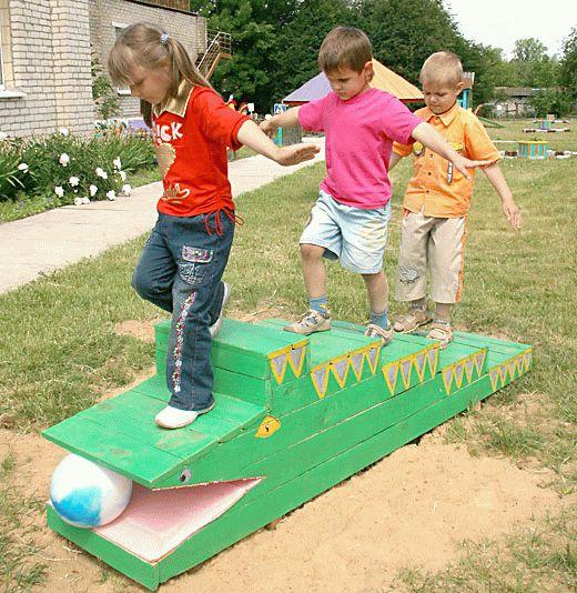 Игровая площадка в детском саду своими руками фото